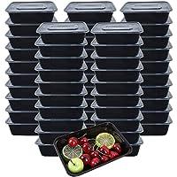 [50 piezas] 750ml Meal Prep Containers 1 Compartimiento Contenedor Alimentos Contenedor Comida Hecho de Plástico Sin BPA…