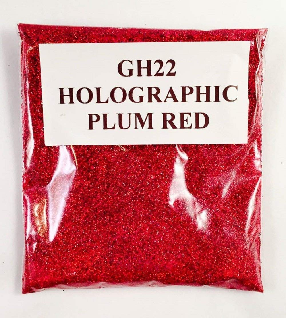 (GH22 – HOLOGRAPHIC PLUM RED 50G) GLITTER NAIL ART COSMETIC CRAFT FLORIST WINE GLASS GLITTER TATTOO N/A