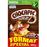 Nestlé Chocapic - Céréales du Petit Déjeuner - Paquet de 500g - Lot de 8