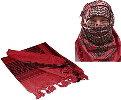 Best Quality Shemagh//Arabic scarf//Ghutrah RED Original /_/_Made in England