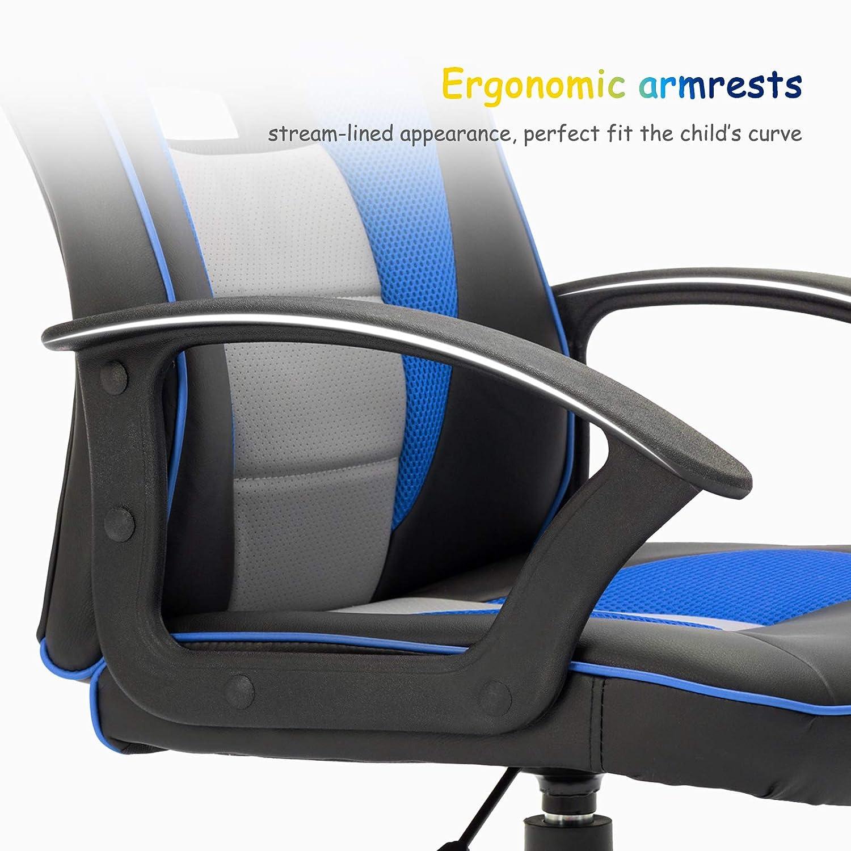 con Regolazione di Sollevamento Azzurro IntimaTe WM Heart Sedia Gaming Bambino,Sedia Design ergonomico in Grado di sostenere la Vita Sicuro e Confortevole