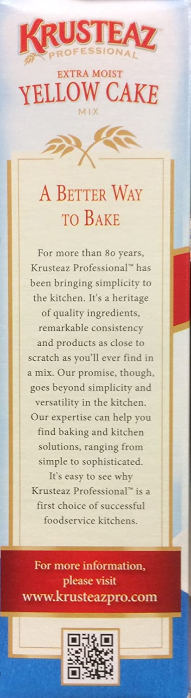 Amazon.com : Krusteaz Extra Moist YELLOW CAKE Mix 72oz. (4-Pack) : Grocery & Gourmet Food