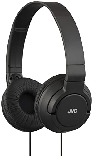 JVC Foldable Lightweight Powerful Bass Over-Ear Headphones - Black