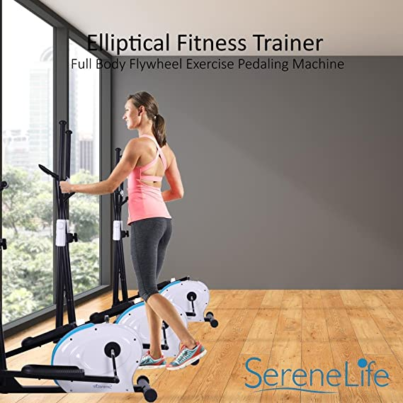 serenelife Fitness Trainer bicicleta elíptica bicicleta elíptica - Cuerpo completo volante máquina de ejercicio de pedaleo: Amazon.es: Deportes y aire libre