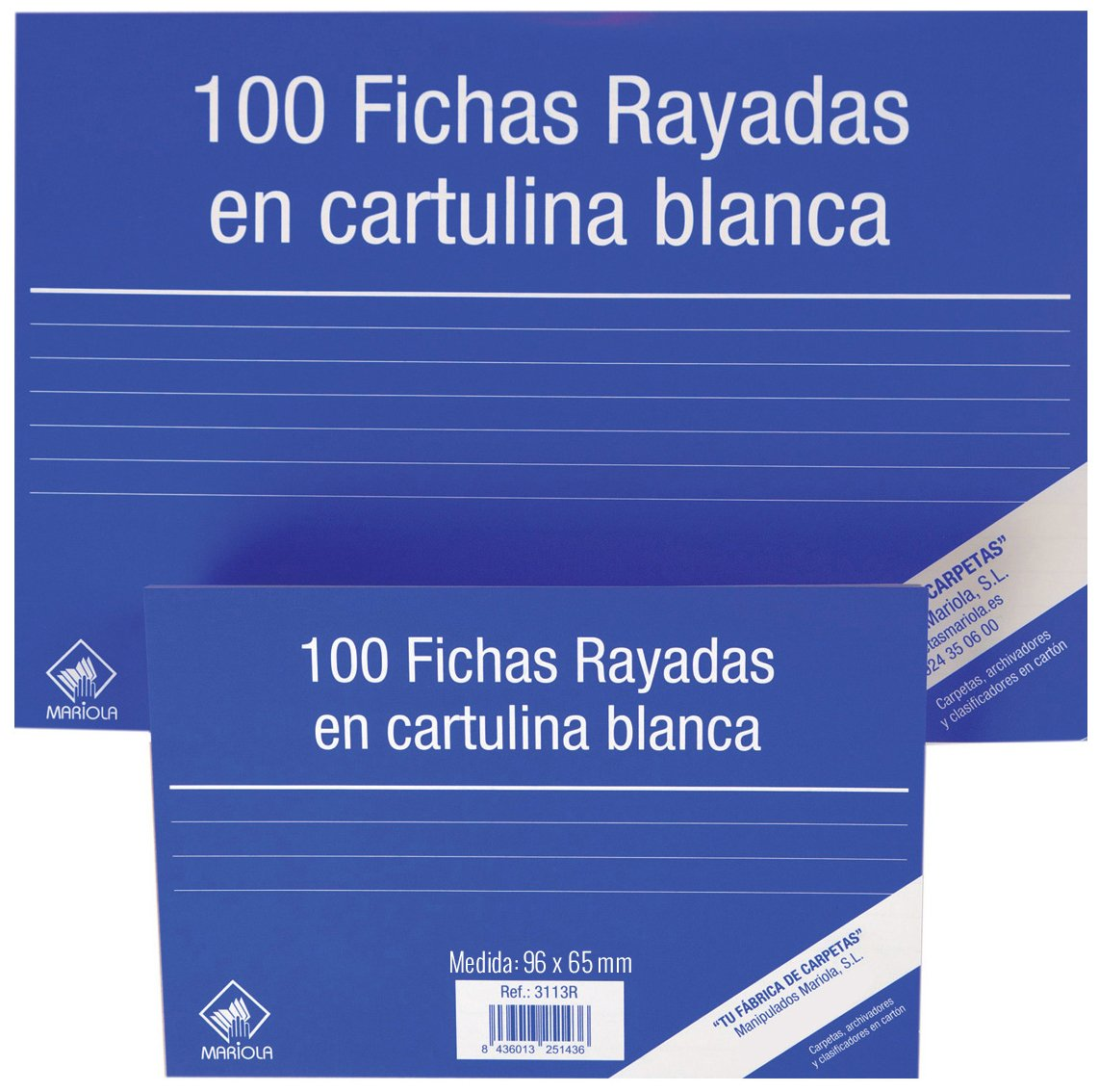 Amazon.com : Mariola 3111r - Package of 100 Chips Rayadas, 95 x 65 mm : Office Products