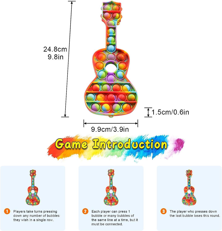 Bubble Popper Anxiety Relief Push Bubble Fidget Sensory Toy Pop Pop Fidget Toy