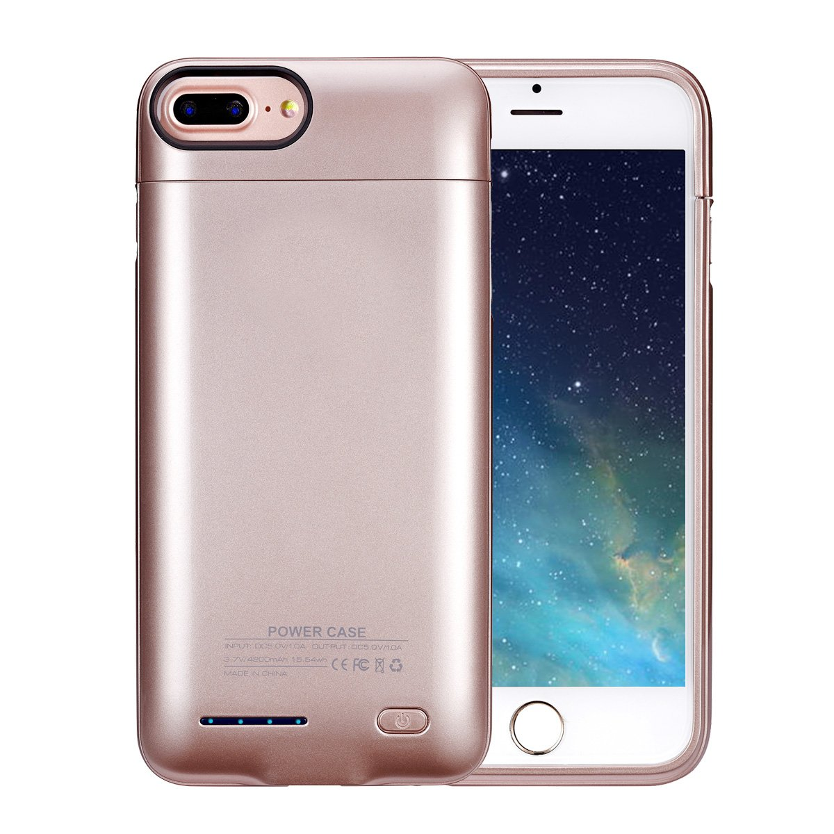 """iPhone 8 Plus / 7 Plus / 6s Plus高容量バッテリーケース超スリム拡張バッテリーケース4200 mAh For Iphone 8 plus / 7 Plus / 6s Plus外部ジュースパック充電器ケース5.5インチ B074FT1VW2 5.5"""" (A-color)"""