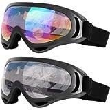 Dapaser 2/4 Pack Ski Goggles, Winter Sport Goggles for Adults Kids Snow Goggles