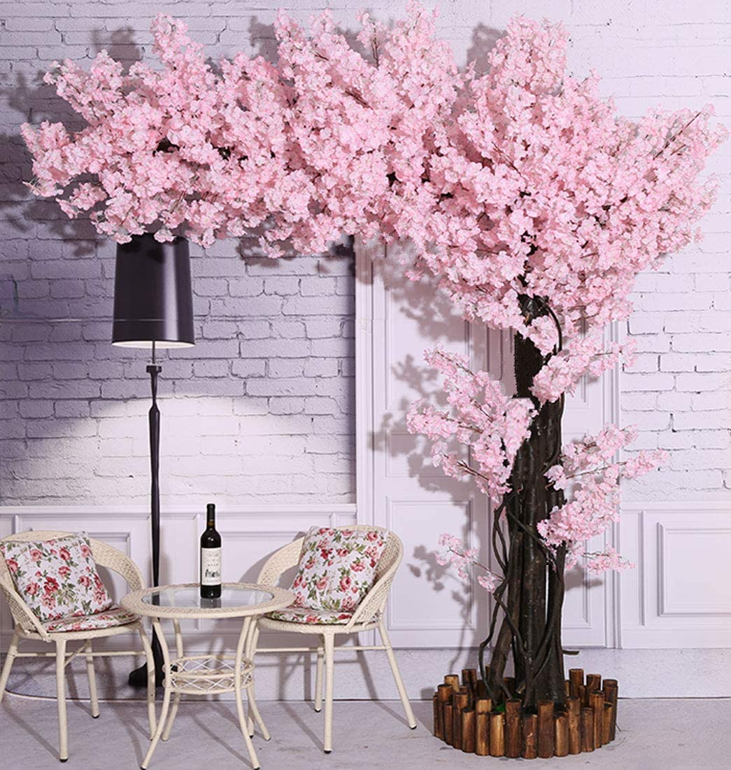 Amazon Com Vicwin One Artificial Cherry Blossom Trees Light Pink