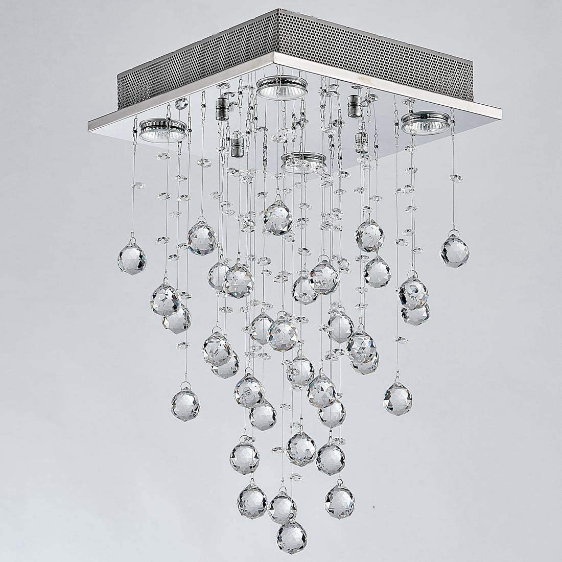 Bestier Cristal moderno Raindrop Araña Iluminación Montaje ...