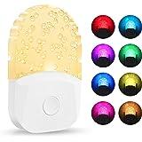 Plug in Color Changing Night Light, DORESshop 0.5W Plug Into Wall RGB LED Night Lights, Dusk to Dawn Sensor, 3 Lighting Modes