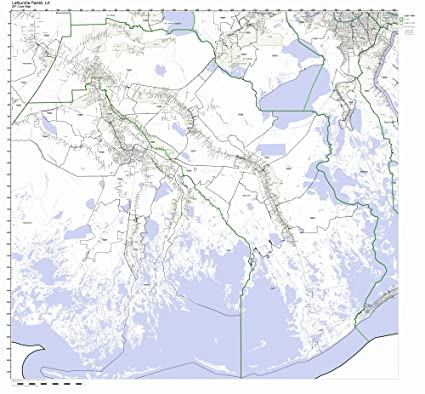 Amazon Com Lafourche Parish Louisiana La Zip Code Map Not