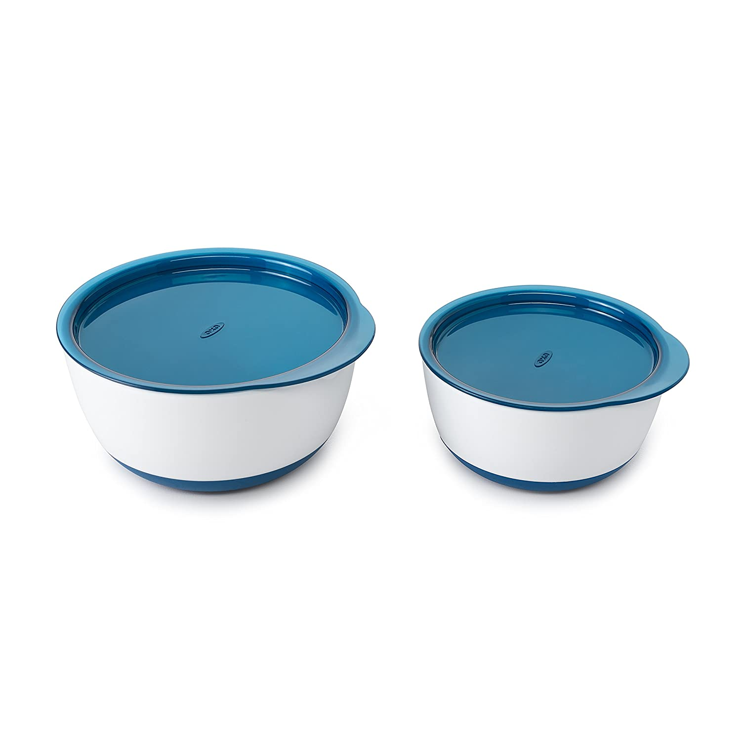 OXO Tot Small & Large Bowl Set with Snap On Lids - Navy