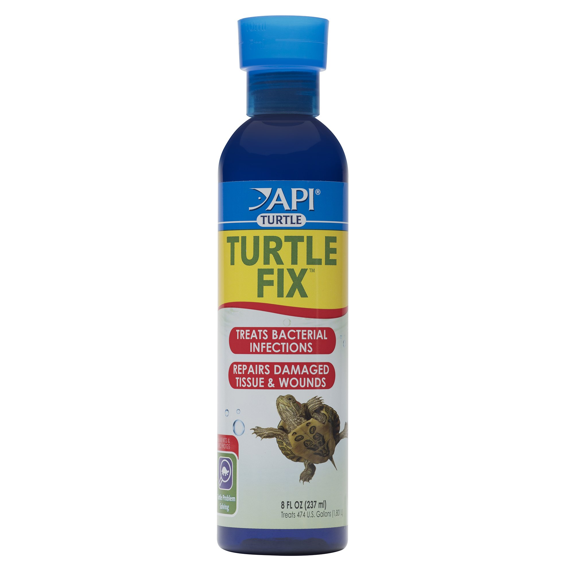 API TURTLE FIX Antibacterial Turtle Remedy 8-Ounce Bottle