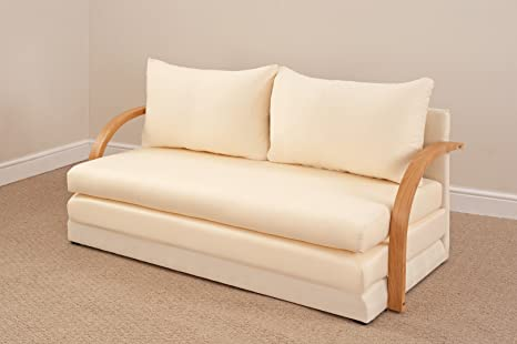 Fold Out Double Foam Sofa Bed Chloe   NATURAL By Comfy Living