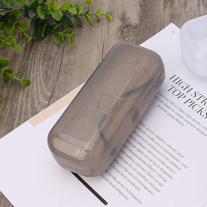 Port/átiles Caja de la Caja Eyewear del Metal Bolsas de Lino Pantalla Color s/ólido Gafas de Moda Organizador de protecci/ón
