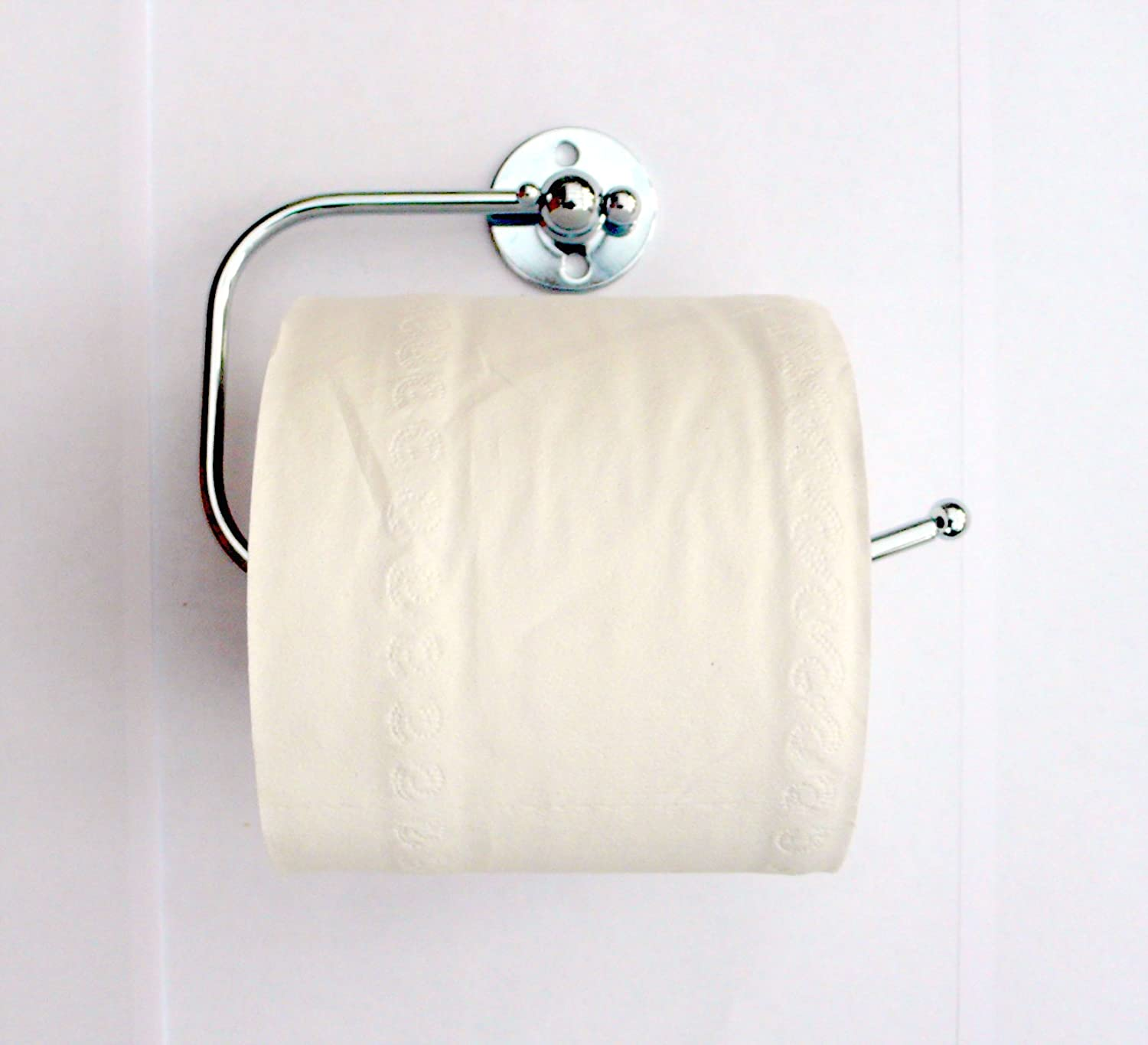 New Chrome Metal Toilet Paper Loo Roll Holder Fittings