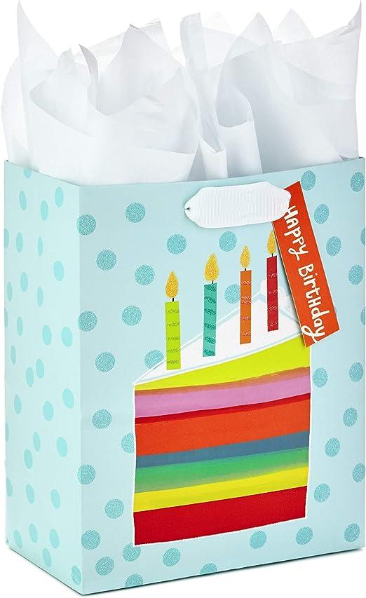 Amazon.com: Hallmark - Bolsa de regalo de cumpleaños grande ...