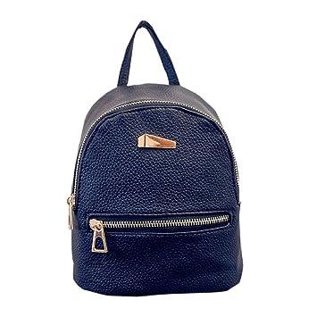 Tongshi Nuevo recorrido del morral del bolso de escuela de la mochila de la mujer (Negro): Amazon.es: Deportes y aire libre