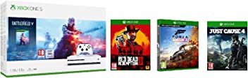 Xbox One S 1TB Battlefield V console + Red Dead Redemption + Forza Horizon 4 + Just Cause 4