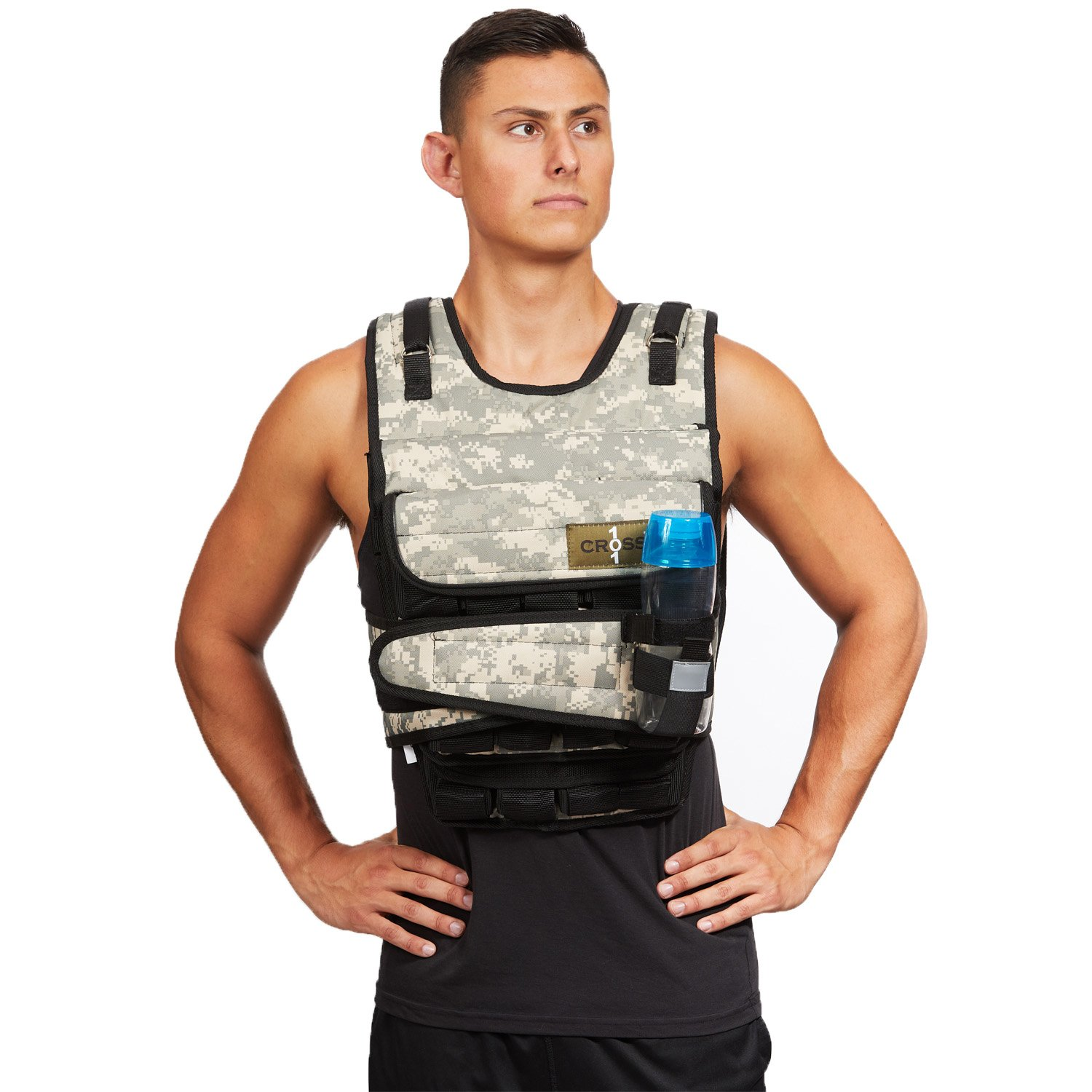 CROSS101 Adjustable Camouflage Weighted Vest 12LBS - 140LBS (Desert - 100LBS) by CROSS101 (Image #2)