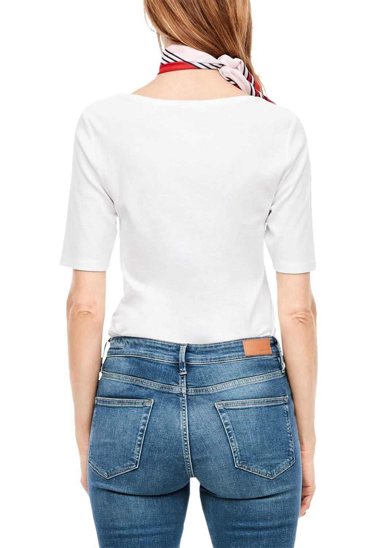 s.Oliver Rak jeans för kvinnor vit