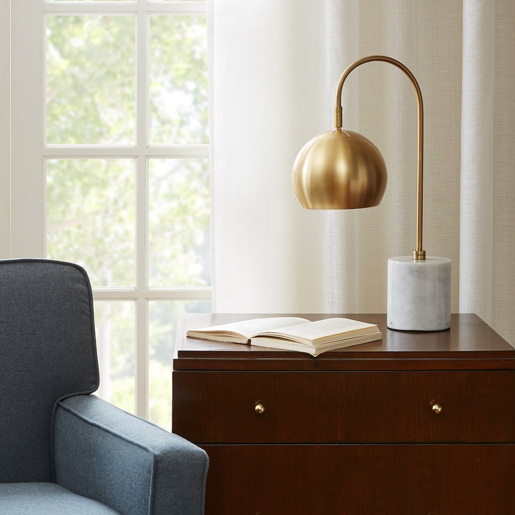 Halsey Table Lamp White/Gold See below