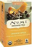 Numi Organic Tea--Orange Spice Tea--16 Count Non-GMO Biodegradable Tea Bags--Full Leaf White Tea-- Low Caffeine Premium Bagged Tea