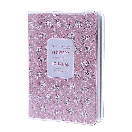 Lamdoo Agenda con planificador diario, mensual y semanal, cuaderno, calendario escolar, artículo de regalo, B: 15cmx10.5cm/5.91inx4.13in