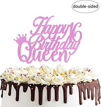 Awesome Amazon Com Happy 16Th Queen Birthday Cake Topper For Sweet Personalised Birthday Cards Veneteletsinfo