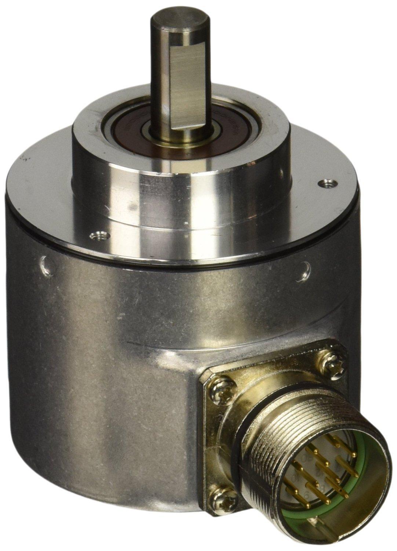 Hengstler 0522111 RI58-O/500EK.42KH Incremental Encoder, 10 mm Solid Shaft, 500 Pulses, Grey