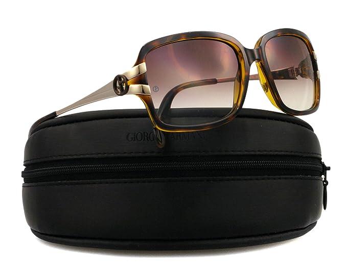 e48a4b9c7679 Giorgio Armani GA776/S Sunglasses, 0P8O Havana Light Gold 02 Brown Gradient  Lens, 56mm: Amazon.ca: Watches