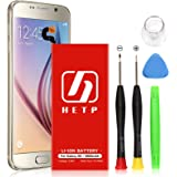 Galaxy S6 Battery 2800mAh HETP UPGRADED 3.85V Li-Polymer Internal Replacement Battery for Samsung Galaxy S6 G920A G920P G920T G920V with Free Screwdriver Tool Kit - 18 Month Warrantly
