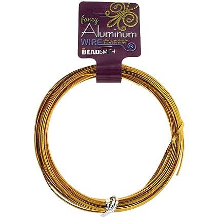 Kissitty 5 Rolls 5mm Wide Flat Jewelry Artistic Aluminum Wire Golden 18 Gauge About 6.5 Feet//Roll