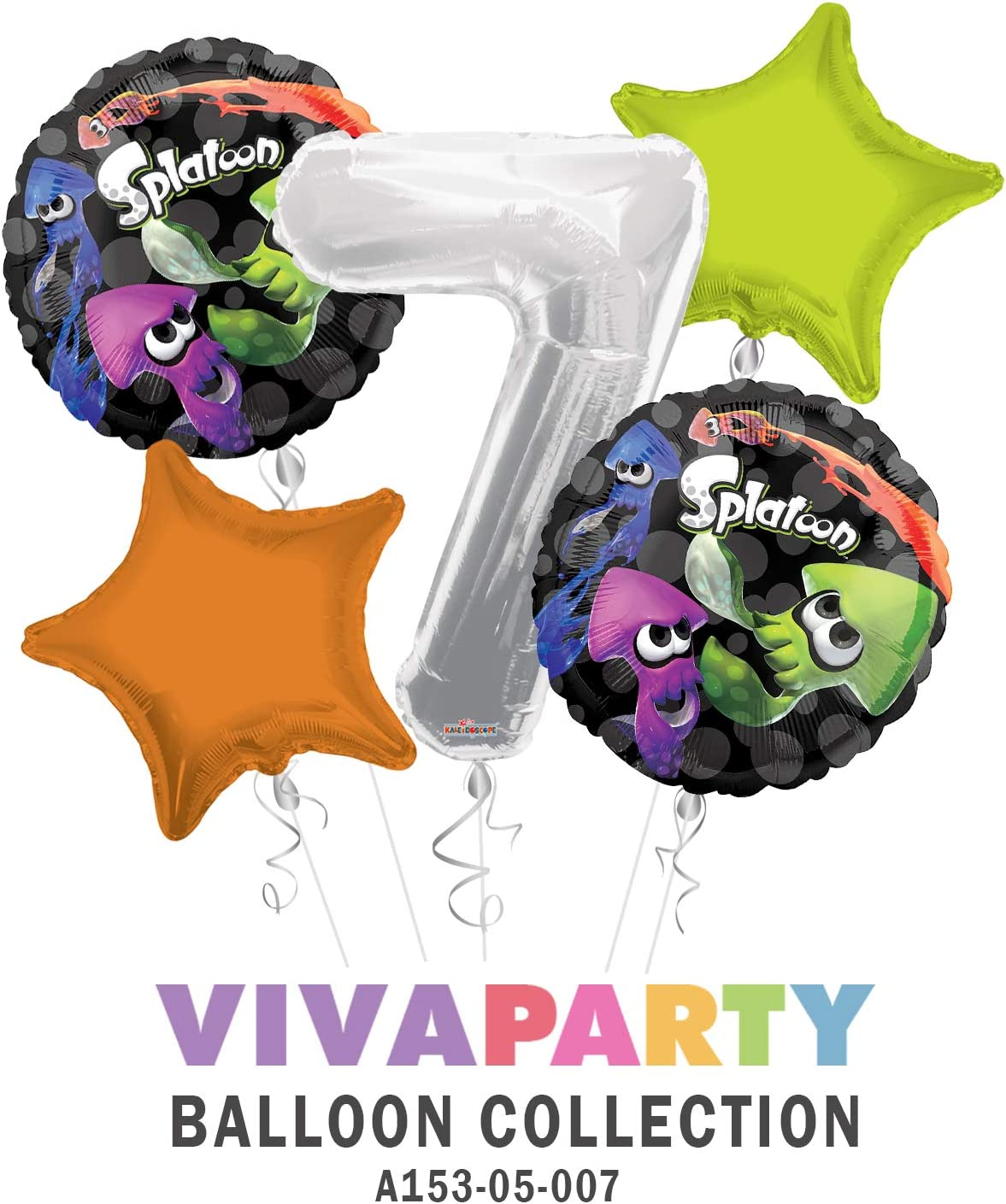 SPLATOON Birthday Party Supply Kit Pack For 16 FREE SHIP w//Balloons
