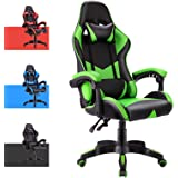 Advwin Gaming Chair Racing Style, Ergonomic Design Reclining Executive Computer Office Chair, Relieve Fatigue (Green)