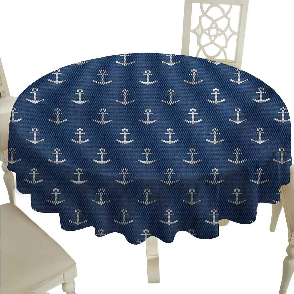 Cordiall Anchor 装飾テクスチャード生地 テーブルクロス 航海シンボル レトロカラー ヨットテーマ 船乗り 抽象模様 アドベンチャー ビュッフェテーブルに最適 D36 マルチカラー D36