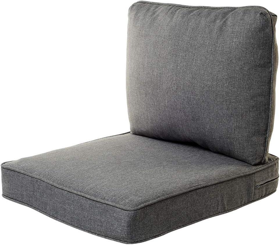 "Quality Outdoor Living 29-MG02SB Chair Cushion, 23"" Width by 26"" Depth, Machine Grey"