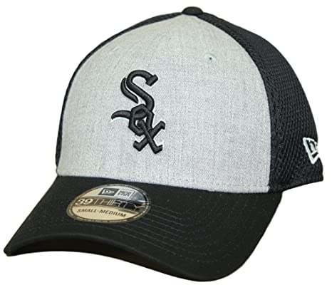 Chicago White Sox New Era MLB 39THIRTY  quot Heathered Gray Neo quot  Flex  Fit Hat 989463dfb2c