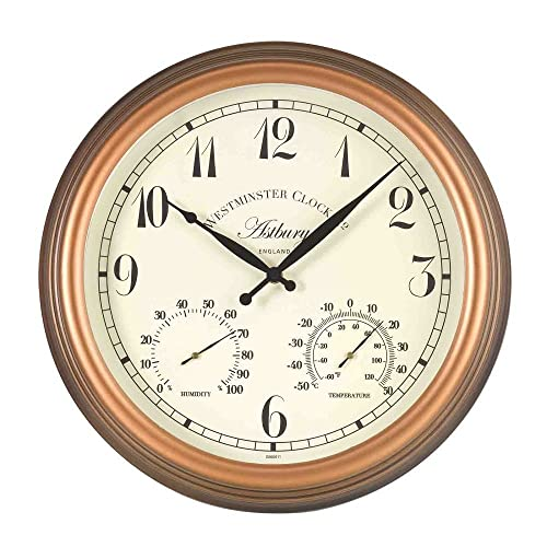 Altuna 5061001 Exeter Clock With Thermometer Black Amazon
