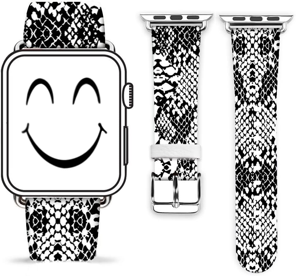 Snake Band for iWatch 42mm 44mm,Gifun Leather Band Replacement Fashion Band Strap for iWatch 44mm 42mm Series 6/5/4/3/2/1 - Snake Skin Print