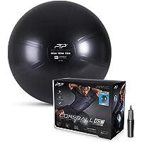 PTP Anti-Burst Core Strength Ball with Pump, Onyx Black, 65 cm