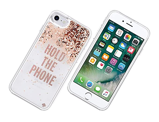 online retailer e341c 7a9ab Amazon.com: Kate Spade New York Clear Liquid Glitter Case for iPhone ...