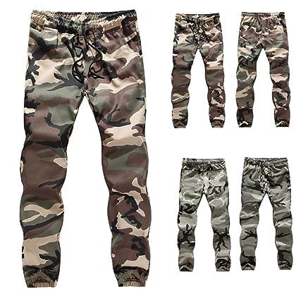8e2561f05439 vermers Clearance Sale Mens Casual Pants Jogger Camo Sportwear Baggy Harem Slacks  Trousers Sweatpants(L