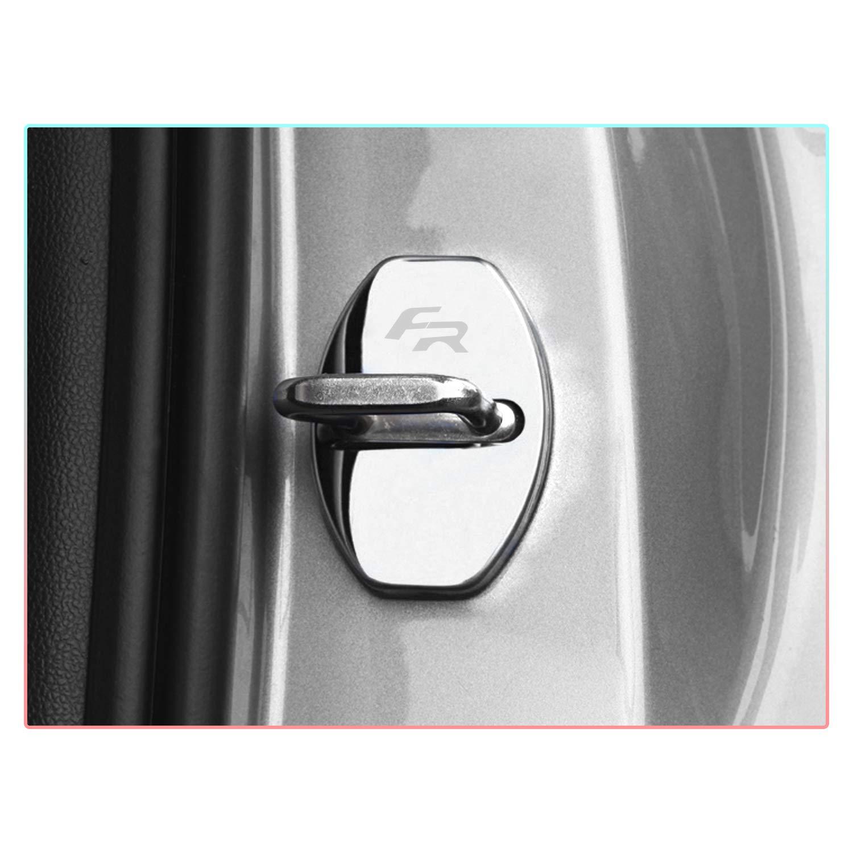 Schwarz CDEFG Edelstahl Auto T/ürschlossabdeckung f/ür Seat Ibiza//Tarraco//Leon//Ateca//Arona Door Lock Cover Zubeh/ör T/ürverriegelung Abdeckung 4 St/ück
