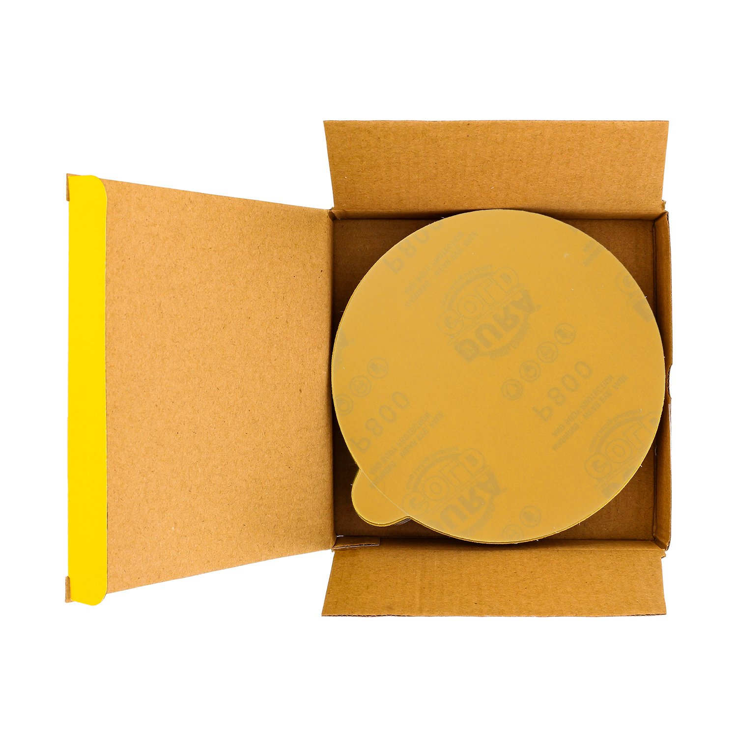 Dura-Gold Premium 100 Grit 6 Gold PSA Self Adhesive Stickyback Sanding Discs for DA Sanders Box of 50 Sandpaper Finishing Discs for Automotive and Woodworking
