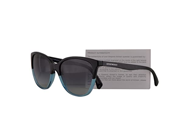 cdf902a6333 Image Unavailable. Image not available for. Color  Emporio Armani EA4110  Sunglasses Black Azure w Grey Gradient ...