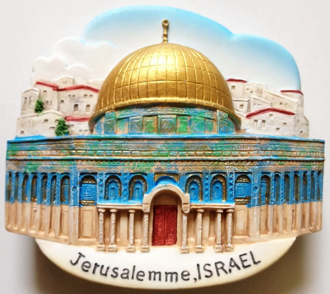 The Dome of the Rock JERUSALEM Israel High Quality Resin 3D fridge Refrigerator Thai Magnet Hand Made Craft.