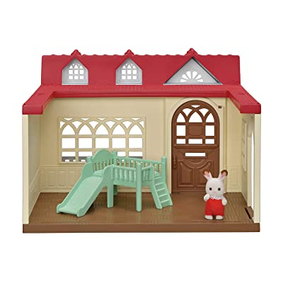 Calico Critters Sweet Raspberry Home Dollhouse Playset with Figure & Furniture Included: Toys & Games