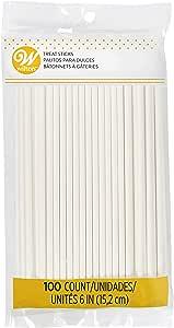 Wilton White 6-Inch Lollipop Sticks, 100-Count